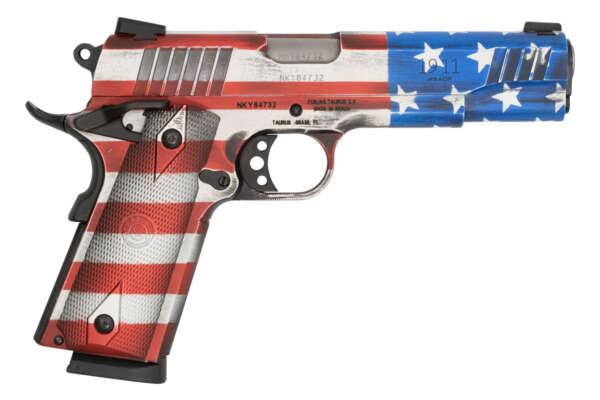 Taurus PT1911 45 ACP Full-Size Pistol with Cerakote US Flag Finish