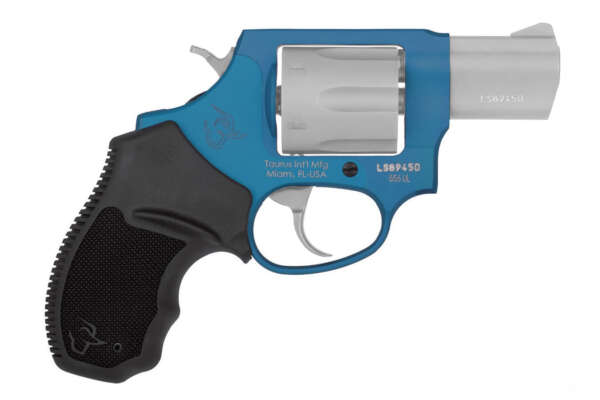 Taurus 856 Ultra Lite 38 Special Revolver with Azure/Stainless Finish