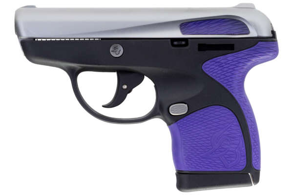 Taurus Spectrum .380 Auto Semi Auto Pistol with Silver Slide and Purple Grips