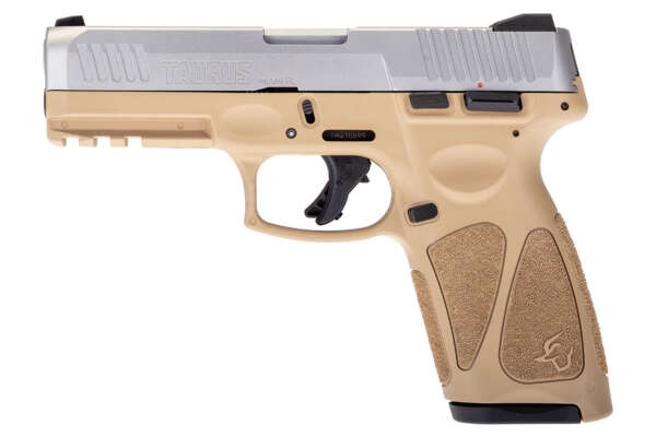 Taurus G3 9mm Pistol with Matte Stainless Slide and Tan Frame