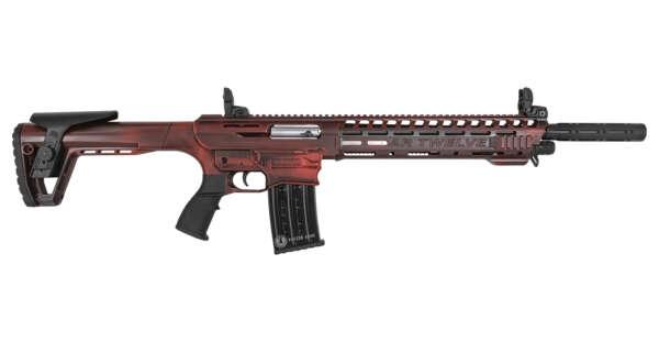 Panzer Arms AR Twelve 12 Gauge Semi-Auto Shotgun with Distressed Red Cerakote Finish