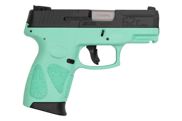 Taurus G2C 9mm Sub-Compact Pistol with Cyan Frame and Black Slide